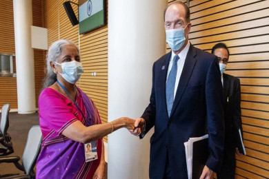 World Bank president hails India on Covid-19 vaccination drive